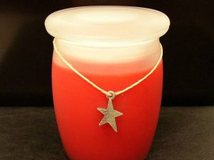 Pewter Casted Star with Jar