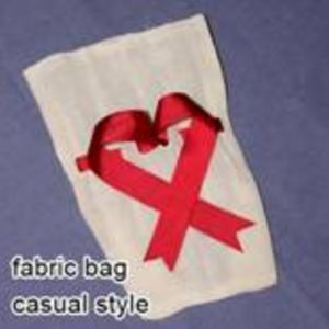 Cotton Pouch with Ribbon Draw Strong