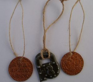 Metal Medallion with Rope Cord